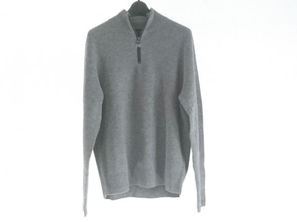 ケント&カーウェン 長袖セーター サイズM レディース美品  グレー ハーフジップ