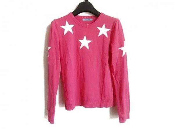 GUILD PRIME(ギルドプライム) 長袖セーター サイズ34 S レディース ピンク×白 スター