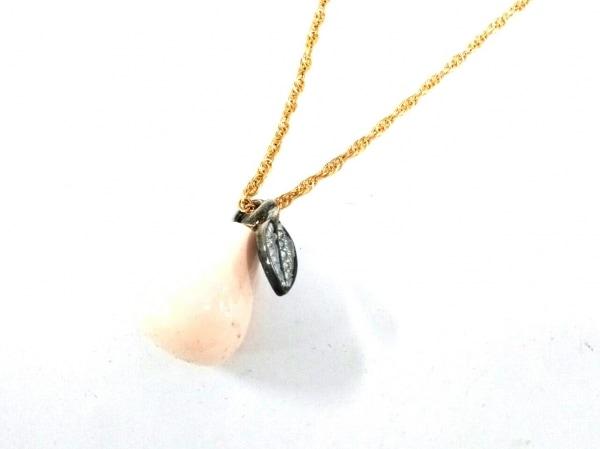 ケネスジェイレーン ネックレス 金属素材×ラインストーン×プラスチック