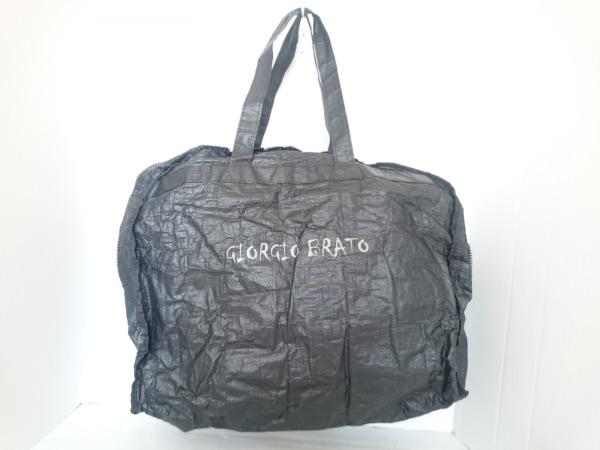 GIORGIOBRATO(ジョルジオブラット) ハンドバッグ ダークグレー 化学繊維