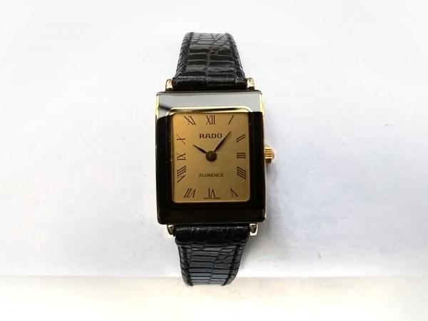 RADO(ラドー) 腕時計美品  フローレンス - レディース 型押し革ベルト ゴールド