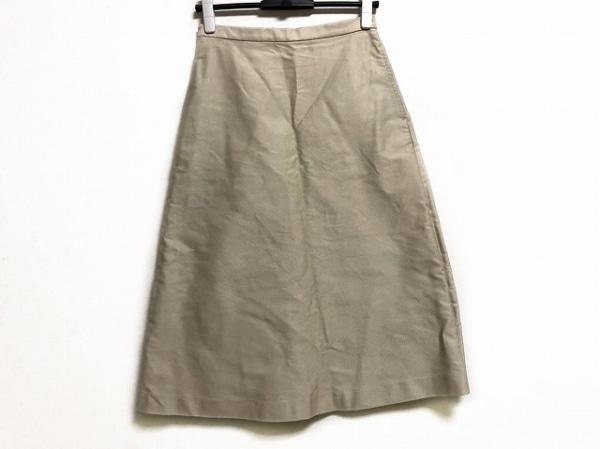 AURALEE(オーラリー) ロングスカート サイズ1 S レディース美品  ライトベージュ