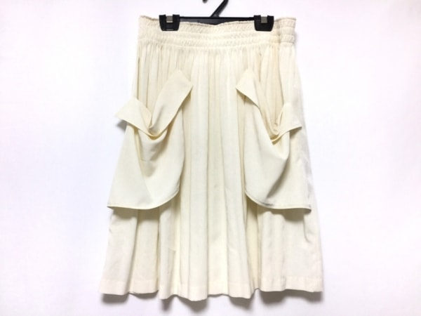 NOKO OHNO(ノコオーノ) スカート サイズ40 M レディース アイボリー