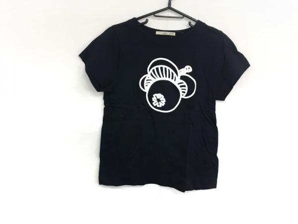 peu pres(プープレ) 半袖Tシャツ サイズF レディース 黒×アイボリー