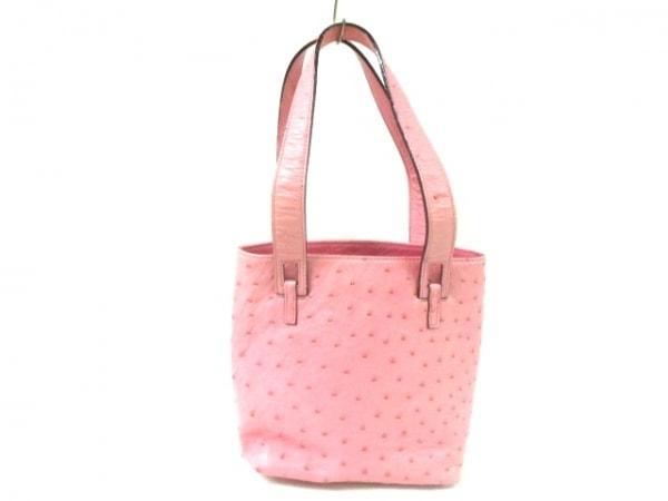 CELENCEE(セレンシー) ハンドバッグ ピンク オーストリッチ