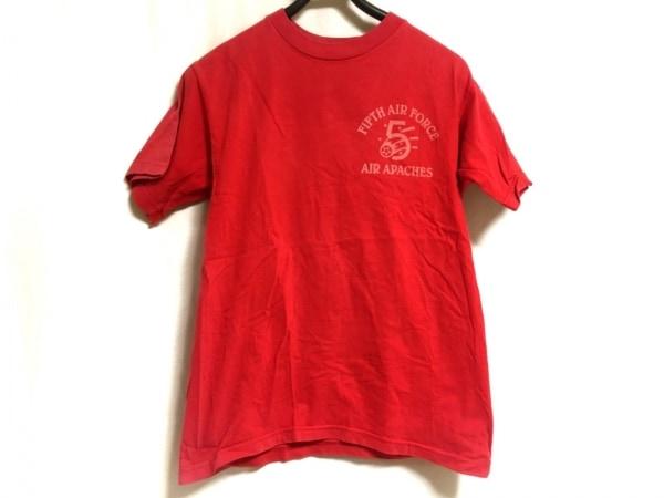 BUZZ RICKSON'S(バズリクソンズ) 半袖Tシャツ サイズS メンズ レッド
