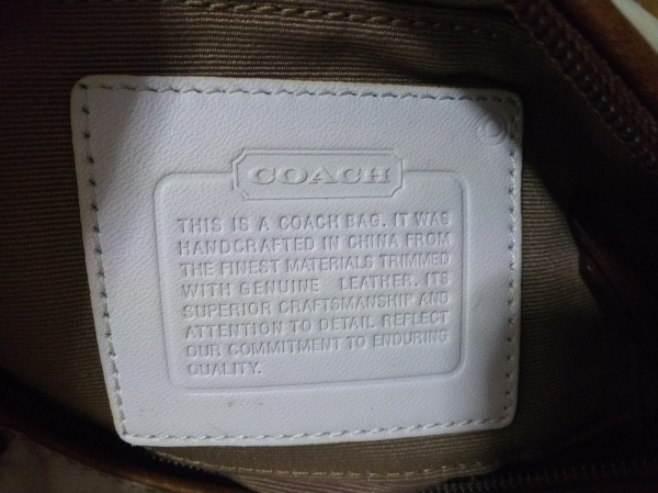 COACH(コーチ) ハンドバッグ シグネチャー柄 - 6