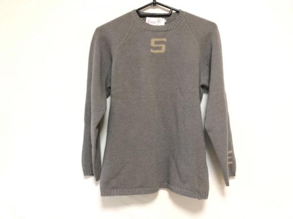 CORGI(コーギ) 長袖セーター サイズ40 M メンズ グレー×ベージュ