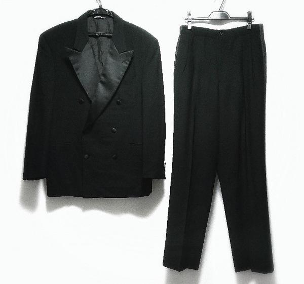 GIANFRANCO FERRE(ジャンフランコフェレ) ダブルスーツ メンズ美品  黒