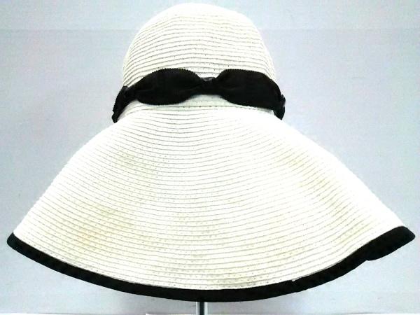 TOCCA(トッカ) ハット美品  白×黒 ビジュー ペーパー×ポリエステル