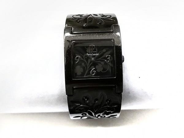 PierreLannier(ピエールラニエ) 腕時計 080F9 レディース 花柄 黒×グレー