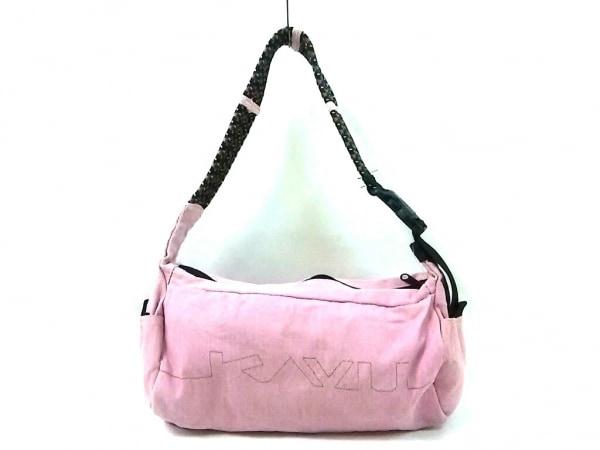 KAVU(カブー) ショルダーバッグ ピンク×黒 キャンバス