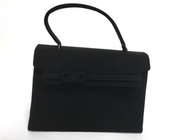 PETITSOIR(プチソワール) ハンドバッグ 黒 コットン