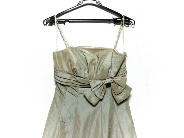 CEST LAVIE(セラヴィ) ドレス サイズ9 M レディース美品  ベージュ ビーズ