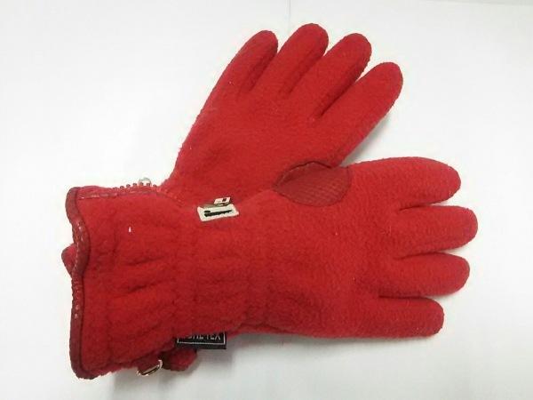 restelli(レステリ) 手袋 レディース レッド ウール×レザー