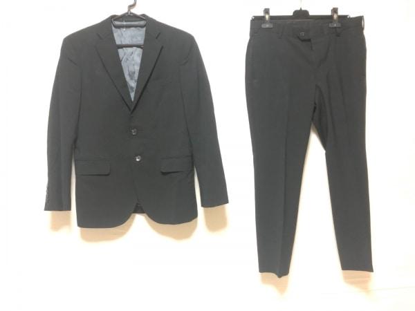 VISARUNO(ビサルノ) シングルスーツ メンズ 黒×ダークグレー チェック柄