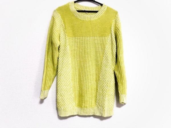 Bonpoint(ボンポワン) 長袖セーター サイズS レディース美品  ライトグリーン×白