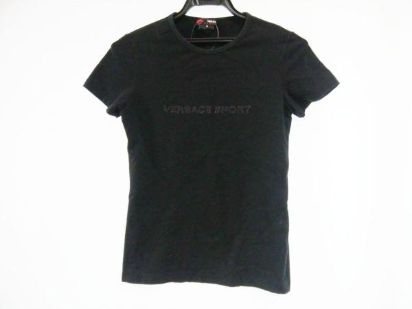 VERSACE SPORT(ヴェルサーチスポーツ) 半袖Tシャツ サイズS レディース 黒