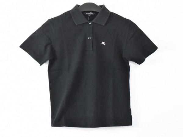 BURBERRYGOLF(バーバリーゴルフ) 半袖ポロシャツ サイズM レディース 黒