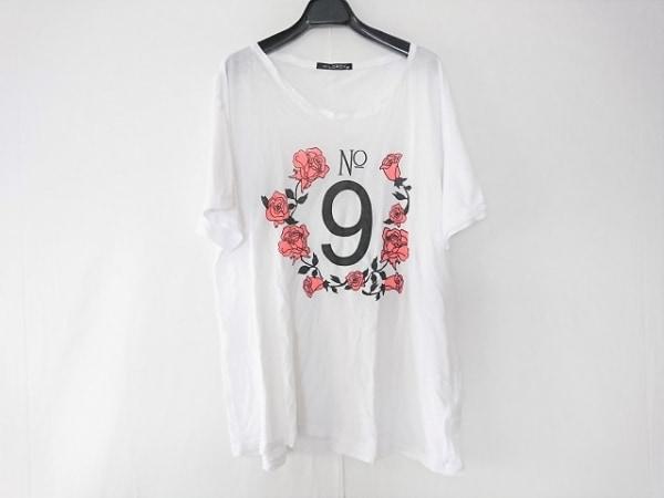 WILDFOX(ワイルドフォックス) 半袖Tシャツ サイズ1 S メンズ 白×黒×オレンジ 花柄