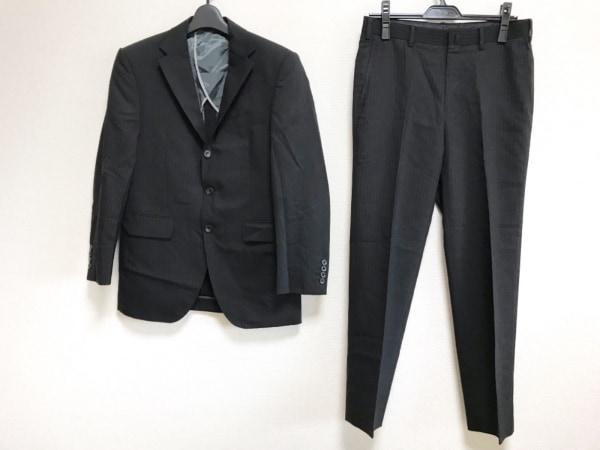 五大陸/gotairiku(ゴタイリク) シングルスーツ メンズ 黒×ダークグレー ストライプ