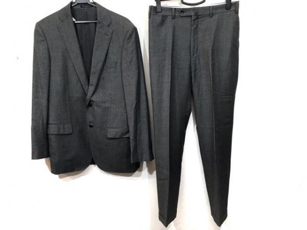 HILTON TIME(ヒルトンタイム) シングルスーツ メンズ グレー 肩パッド/ネーム刺繍