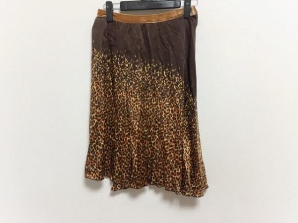 ANNA MOLINARI(アンナモリナーリ) スカート サイズD36 レディース シルク/豹柄