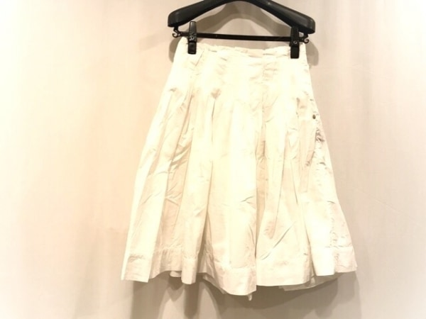 MUGUET(ミュゲ) スカート サイズ36 S レディース美品  白 Muguet Fifth Avenue