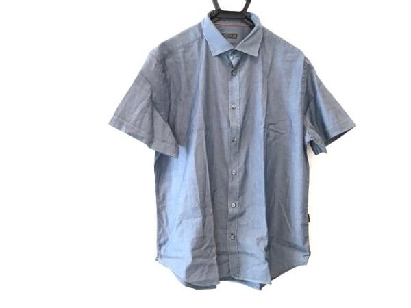 CORNELIANI(コルネリアーニ) 半袖シャツ サイズ18 1/246 メンズ ネイビー