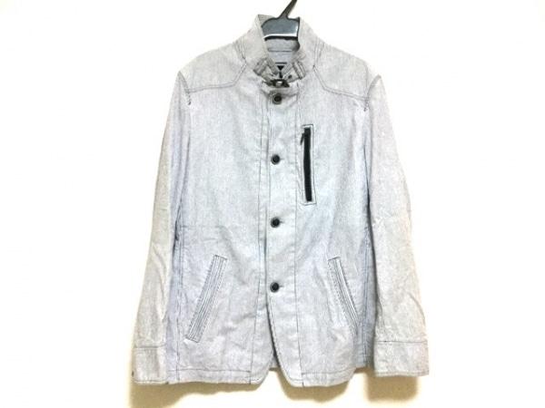 ジョセフアブード ブルゾン サイズM メンズ ライトブルー×白 ストライプ/春・秋物