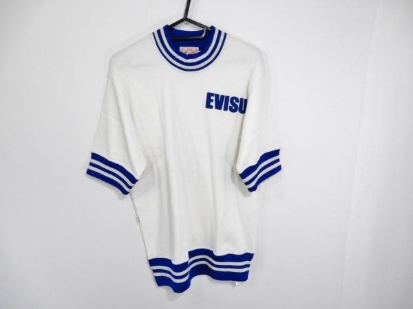EVISU(エヴィス) 半袖カットソー メンズ 白×ブルー