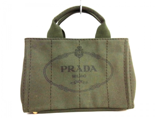 PRADA(プラダ) トートバッグ CANAPA B2439G カーキ キャンバス