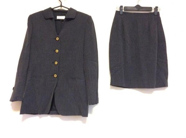 マドモアゼルディオール スカートスーツ サイズM レディース 黒×白