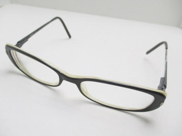 ヴェルサス メガネ MOD8016 黒×アイボリー×クリア 度入り プラスチック×金属素材
