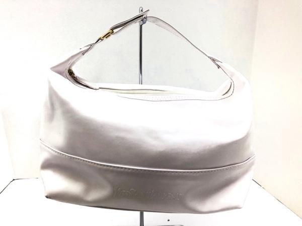 YvesSaintLaurent PARFUMS(イヴサンローランパフューム) ハンドバッグ 白 合皮