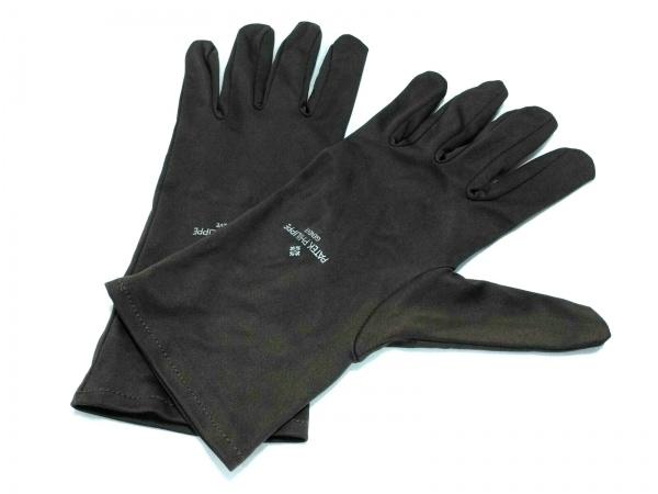 PATEK PHILIPPE(パテックフィリップ) 手袋 ユニセックス ダークブラウン サテン