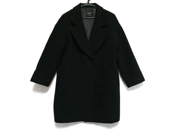YEVS(イーブス) コート サイズM レディース美品  黒 冬物/肩パッド/チェスターコート