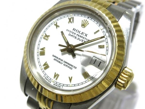 ロレックス 腕時計 デイトジャスト 69173 レディース K18YG×SS/ビッグローマ/20コマ
