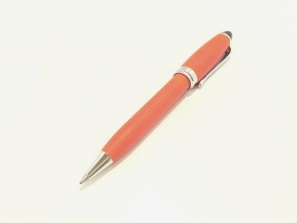 AURORA(アウロラ) ボールペン美品  オレンジ×シルバー×黒 プラスチック×金属素材