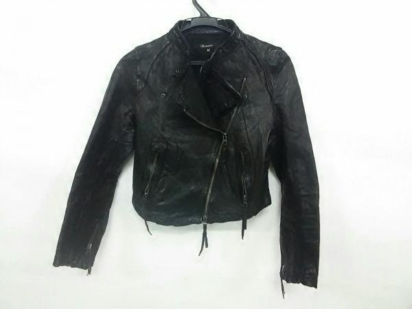 フラミューム ライダースジャケット サイズ38 M レディース ダークブラウン 冬物