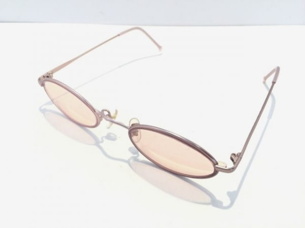 OLIVER(オリバーバレンチノ) サングラス美品  ピンク 金属素材×プラスチック