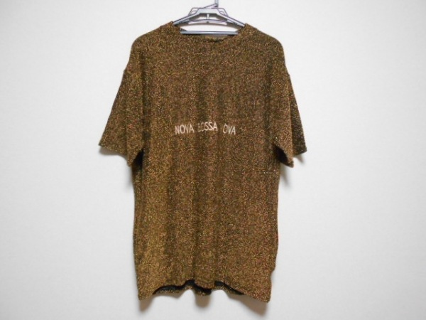 PAMEO POSE(パメオポーズ) 半袖セーター サイズF レディース美品  ゴールド