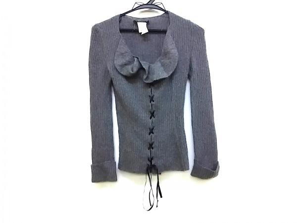 PEGORER(ペゴレール) 長袖セーター サイズ40 M レディース グレー フリル/編み上げ
