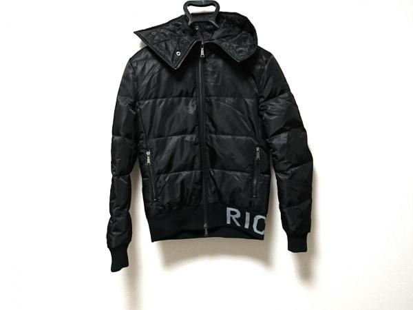 RICHMOND(リッチモンド) ダウンジャケット メンズ 黒×ライトグレー DENIM/冬物