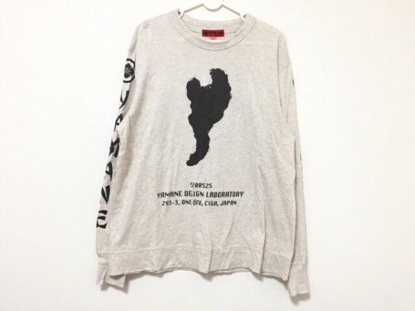 YAMANE(ヤマネ) 長袖Tシャツ サイズ38 M メンズ アイボリー×黒