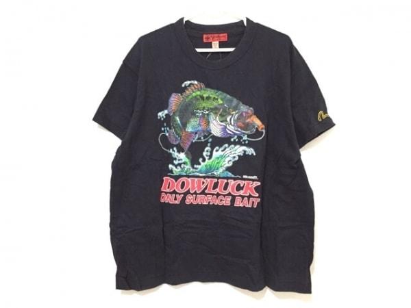 YAMANE(ヤマネ) 半袖Tシャツ サイズ40 M メンズ 黒×マルチ