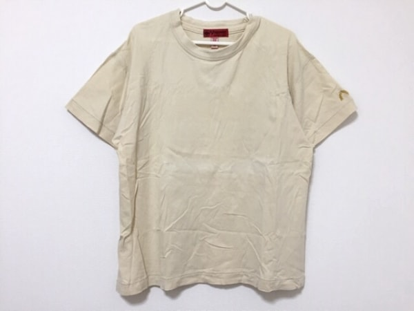 YAMANE(ヤマネ) 半袖Tシャツ サイズ40 M メンズ ライトベージュ