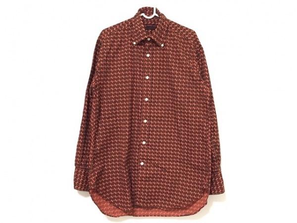 YAMANE(ヤマネ) 長袖シャツ サイズ40 M メンズ レッド×黒