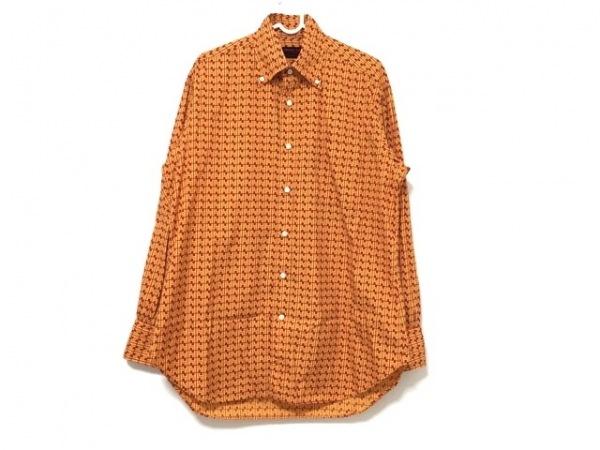 YAMANE(ヤマネ) 長袖シャツ サイズ40 M メンズ オレンジ×レッド