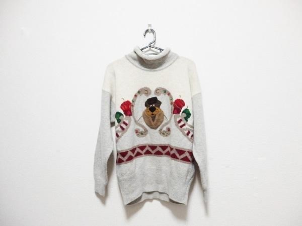ICEBERG(アイスバーグ) 長袖セーター メンズ ライトグレー×アイボリー×マルチ